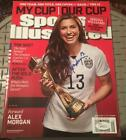 Alex Morgan USWNT World Cup Signed Sports Illustrated Magazine No Label JSA COA