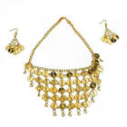 Belly Dance Coin Jewelry Set Necklace  Earrings Gypsy Tribal Party Costume