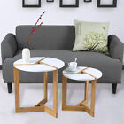 Modern Design White Chic Round Side Table Laptop End Coffe Table Home Furniture