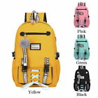 Large School Bags for Teenage Girls Usb with Lock Anti Theft Backpack Women US image