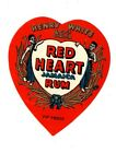 1920s HENRY WHITE & CO, LONDON, ENGLAND RED HEART JAMAICA RUM LABEL