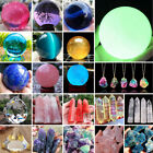 Natural Quartz Crystal Magic Gemstone Sphere Mineral Rock Healing Ball Stone Lot