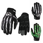 Outsport Racing Bicycle Motorcycle  Gloves Finger Bone Skeleton Costume Gloves M