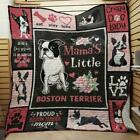 Mama's Little Boston Terrier Fleece Blanket 50x60x80 Made In US