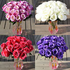 1 Large Bouquet 24 Heads Fake Rose Faux Silk Flowers Wedding Party Home Decor
