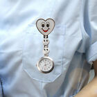 From UK Nurse watch Butterfly Smiley Heart stainless steel fob medical styles