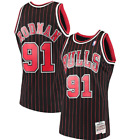 NBA Mitchell & Ness Chicago Bulls #91 Basketball Jersey New Mens Sizes $130