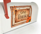 Fall Thanksgiving Give Thanks in All Things Faux Barnwood Magnetic Mailbox Sign