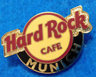 MUNICH GERMANY RED LINE CIRCLE CLASSIC LOGO 4 LINES OVAL HOLO Hard Rock Cafe PIN