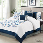 7 Piece Kaisa Navy/White Comforter Set image