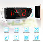 Dimmable Digital Projector Clock FM Radio 3 Alarm Snooze Timer Large LED Display
