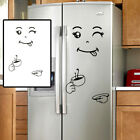 Fashion Smile Face Refrigerator Vinyl Wall Stickers for Fridge Kitchen Bathroom@