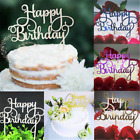 2pcs Gold Silver Cake Topper Happy Birthday Party Supplies Decorations Newly