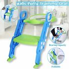 Adjust Toddler Potty Trainer Chair Kids Toilet Seat Step Stool Ladder Folding  image