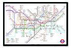 Transport For London Underground Tube Map Magnetic Notice Board Inc Magnets