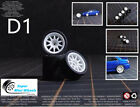 1/64 Scale Wheels & Tire - Custom Hot Wheels, Matchbox,Tomy, Rubber Tires