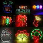 LED Neon Sign Night Light Wall Visual Artwork Bar Lamp Home Xmas Halloween JO