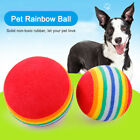 Pet Rainbow Foam Fetch Balls Training Interactive Dog Cat Toy Bouncing Sports
