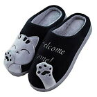 Unisex Winter  Lucky Cat Slippers Non-slip Soft Home  Indoor Shoes Fashion A4027