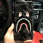 Fashion Camouflage Shark Mouth Cartoon Protective Phone Case For iPh ys