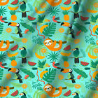 Fish and Animal Printed Cottong Fabric Apparel Everyday Clothing Dress 10 Metre