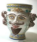 ITALIAN POTTERY VASE With Facial Features SIGNED ITALY - Picasso Esque