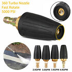 """1/4"""" High Pressure Washer Rotating Turbo Nozzle Spray Tip 2.5-4 GPM 3000PSI US"""
