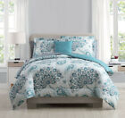8 Piece Westerly Teal/White Comforter Set with Sheets image