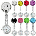 GQ- Women's Cute Smile Face Quartz Clip-on Brooch Nurse Pocket Watch Gift Charm image