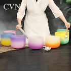 "CVNC 3PCS Set 6""A+8""C+10""F Note Quartz Frosted Crystal Singing Bowls of Chakra"