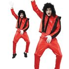 Pop Superstar Costume Mens Adults Jackson Thriller Fancy Dress Outfit New