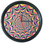 295045 Multicolor 3D Optical Illusions Psychedelic Wall Clock