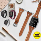 Lady Leather Watch Band Wrist Strap For Apple Watch iWatch Series 5 4 3 2  image