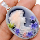 Cameo 925 Sterling Silver Pendant Jewelry AP127693