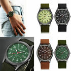 Men's Military Army Date Canvas Band Stainless Steel Sports Quartz Wrist Watches image