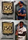 2019 TOPPS UPDATE 150TH ANNIVERSARY GOLD MEDALLION RELIC W/ RC SINGLES  YOU PICK on Ebay