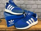 ADIDAS MENS BLUE WHITE GUM I-5923 BOOST TRAINERS RRP £100 VARIOUS SIZES T