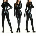 Women's Lingerie Catsuit Shiny PVC Leather Bodysuit Clubwear Costume Jumpsuit