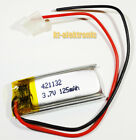 LiPo Lithium Polymer 3,7V Akku mit BMS PCB Batterie Handy MP3 Tablet Navi LiIon