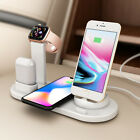 6in1 Qi Wireless Charging Dock Pad for iPhone 11 8 X Air pods Apple Watch5/2/3/4