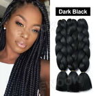 Colored Crochet Hair Extensions Kanekalon Hair Synthetic Braids Jumbo Braiding