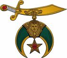 Shriner Sword Symbol Cut-Out Iron-On Patch