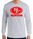 SAN FRANCISCO 49ERS GRAY long sleeve T-Shirt RED Logo Unisex Adult S-2XL $13.99 USD on eBay