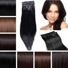 Full Head Silky Straight Extensions human feel Copper Plum Burgundy Dark Sand
