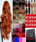 Clip in Hair Extension Human Feel Blonde Highlight Reds Ginger Pink Blue Purple