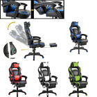 Gaming Office Chair Racing Computer Recline 360° Swivel W/Footrest Piilow Chair