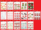 U CHOOSE Recollections CHRISTMAS Stickers Santa Candy Canes Tree Elf Snowman