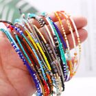 Women Boho Braided Bracelet Wristband Handmade Colorful Bangle  Friendship Rope image
