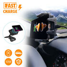 Car Wireless Fast Charger Dashboard Mount Holder Stand Cradle For Cell Phones