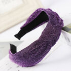 Girl's Band Knot Glitter Shimmer Polyester Headband Hair Wrap Accessories